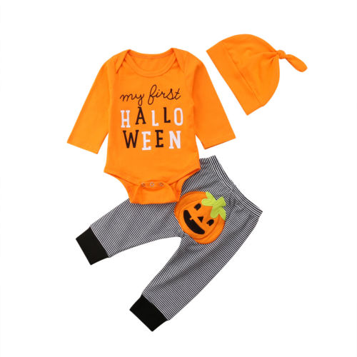 'My first Halloween' Outfit with Beanie