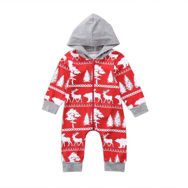 'Winter Forest' Hooded Jumpsuit