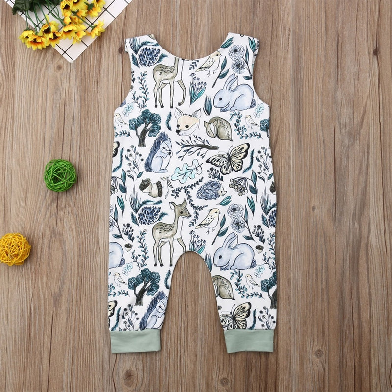 'Forest' Sleeveless Pull-on Jumpsuit