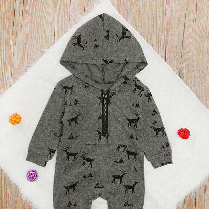 'Little Buck' Hooded Jumpsuit