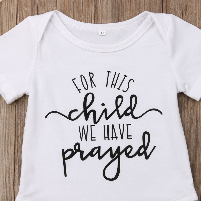 'For this child we have prayed' Onesie
