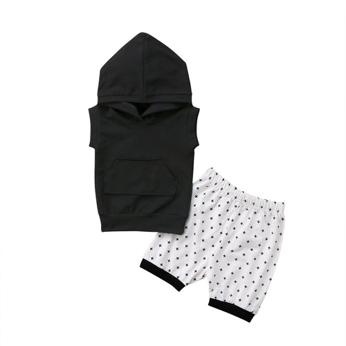 'Black & White' Summer Hoody Outfit