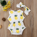 'Pineapple' Romper with Headband