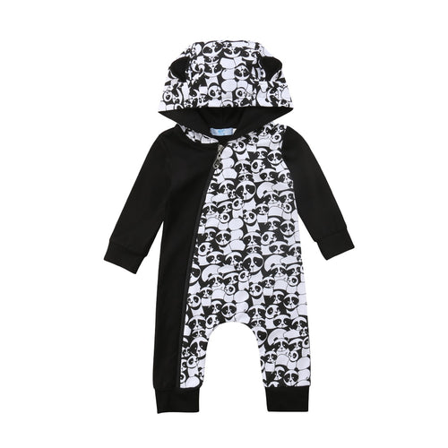 'Pandas' Hooded Jumpsuit
