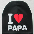 I Love Mama / Papa Warm Cotton Beanie