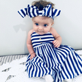 Girls Striped Summer Dress with Headband