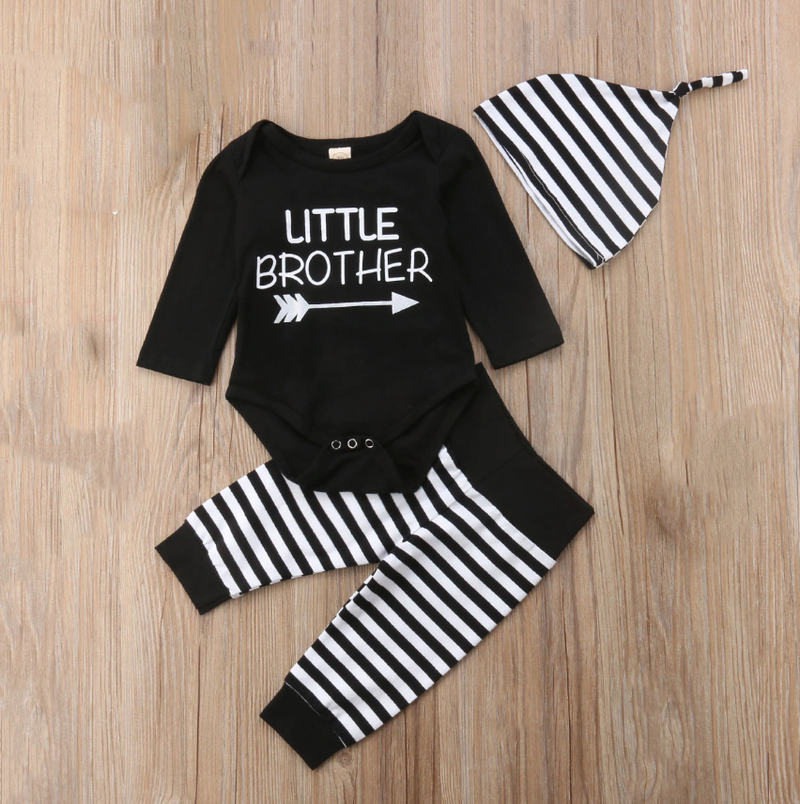 'Little Brother' Striped Outfit