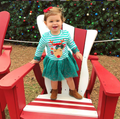 'Rudolph' Striped Christmas Dress