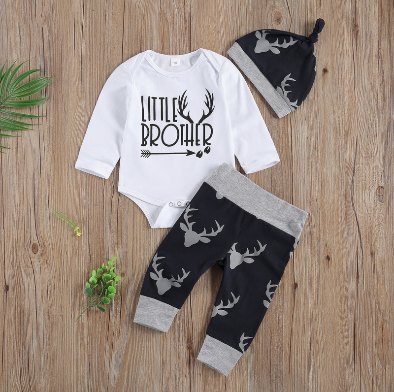 LITTLE BROTHER Gray Deer Outfit