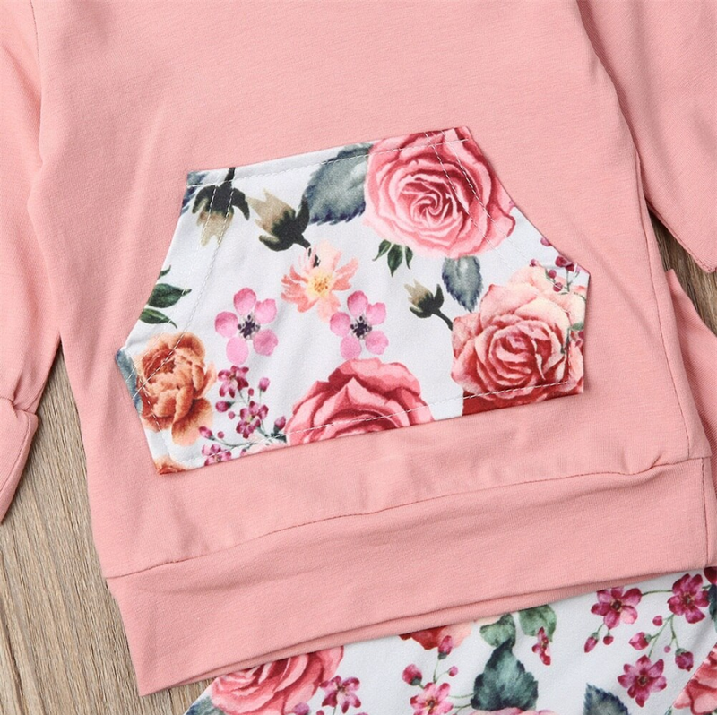 'Amelia' Floral Hoody with Headband
