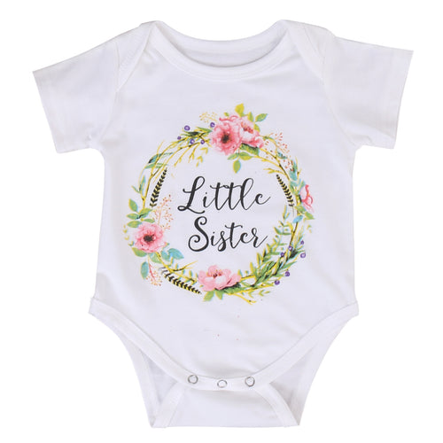'Little Sister' Flower Onesie