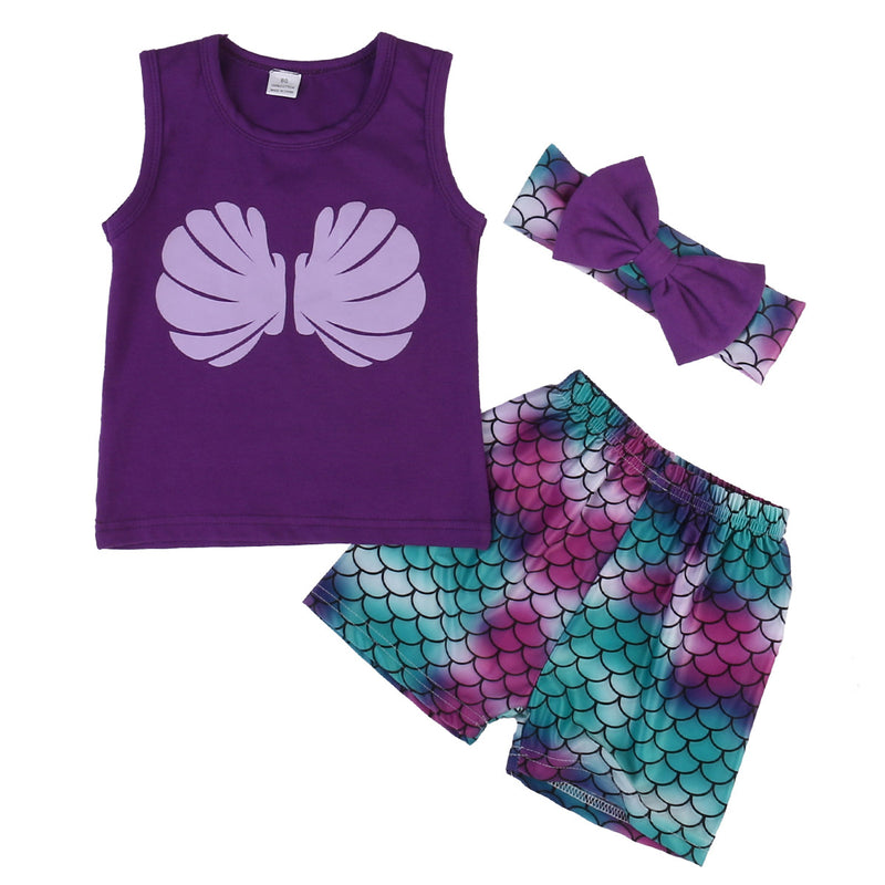 3 Piece 'Little Mermaid' Outfit
