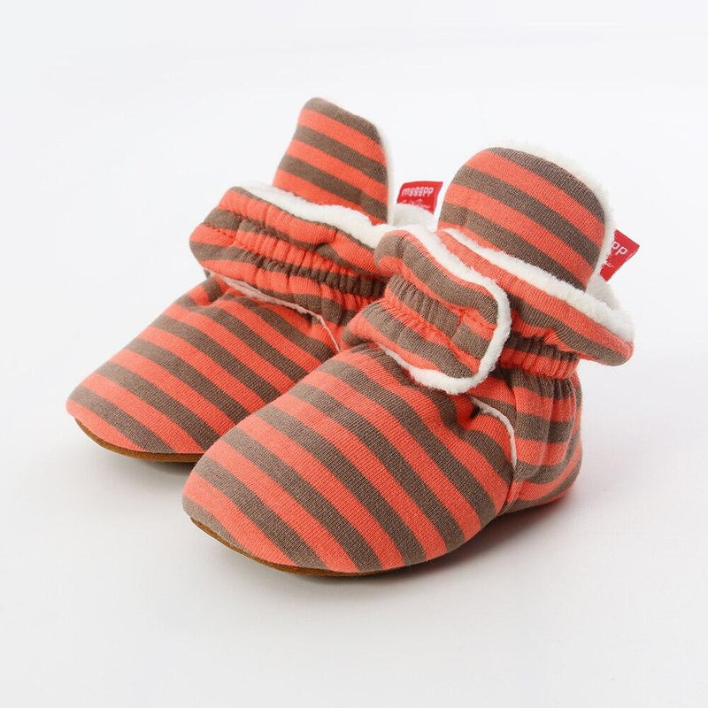 STRIPED Velcro Booties