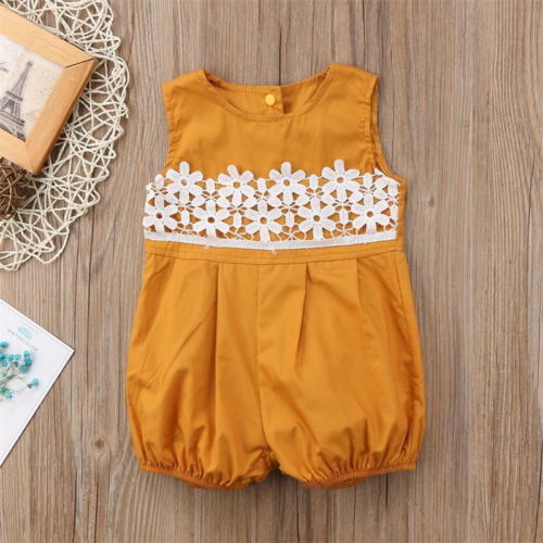 Lace Flower Summer Romper