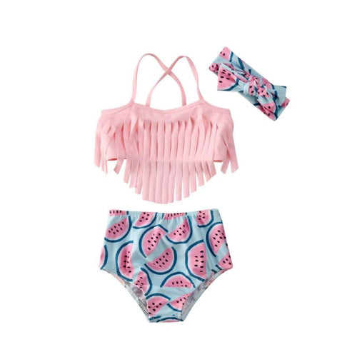 WATERMELON Tassel Bikini with Headband