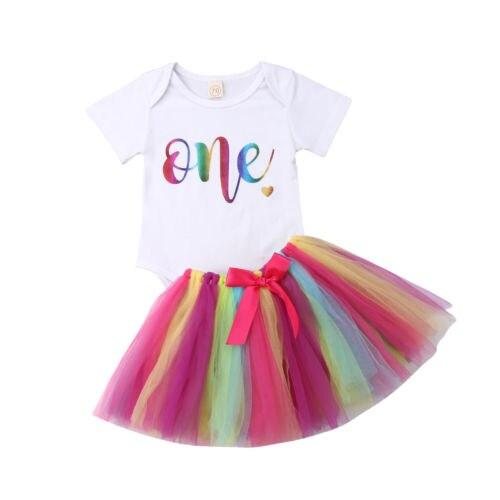 ONE Rainbow Tutu Outfit