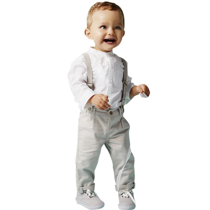 Boys Dress Shirt & Pants Set
