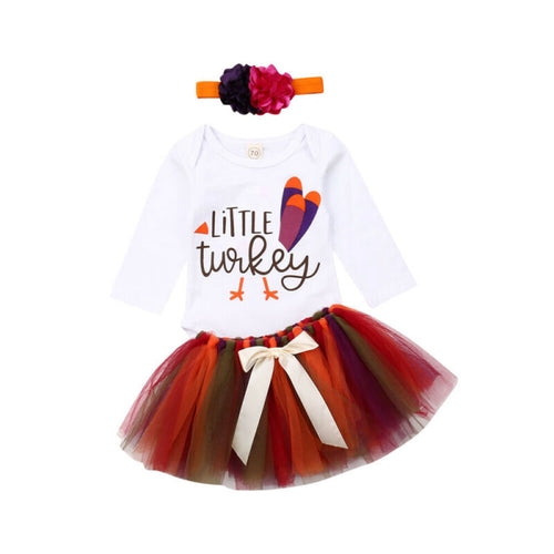 'Little Turkey' Thanksgiving Outfit