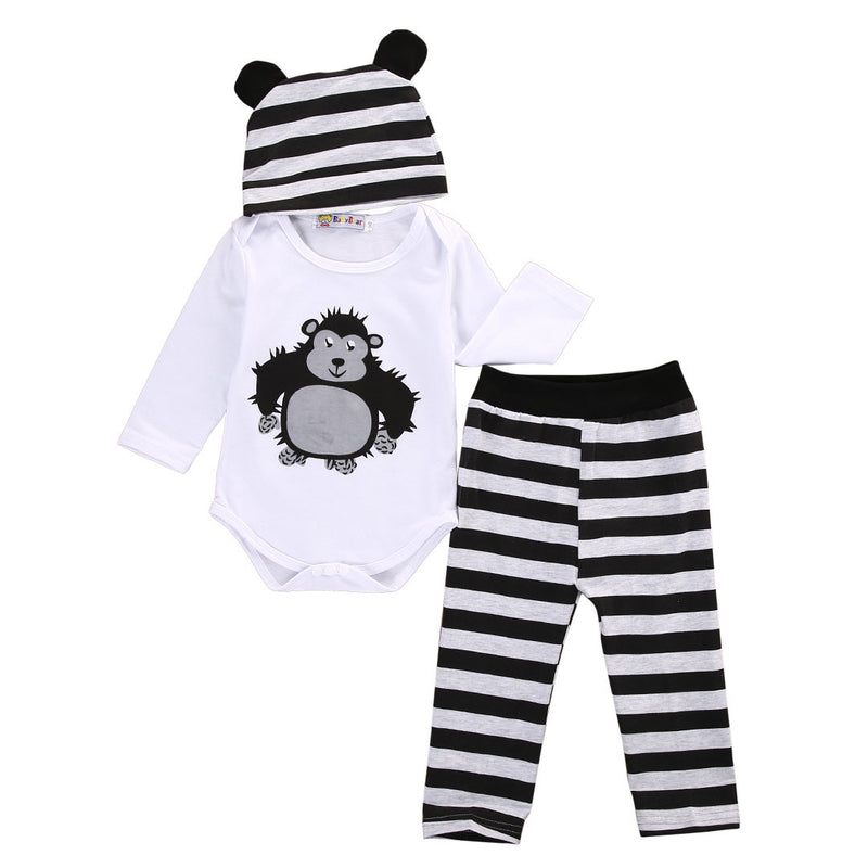 3 Piece 'Cuddly Monkey' Outfit