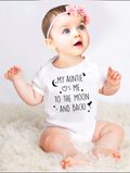 'My Auntie Loves Me' Onesie