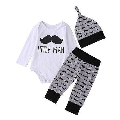 3 Piece 'Little Man' Outfit