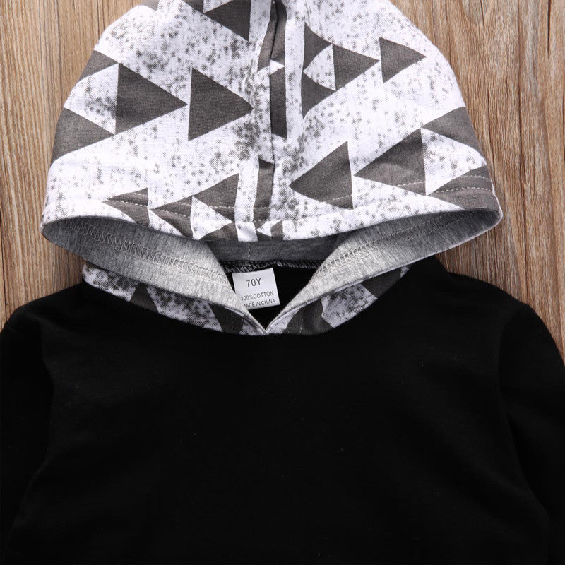 2 Piece Gray 'Aztec' Hoody Outfit