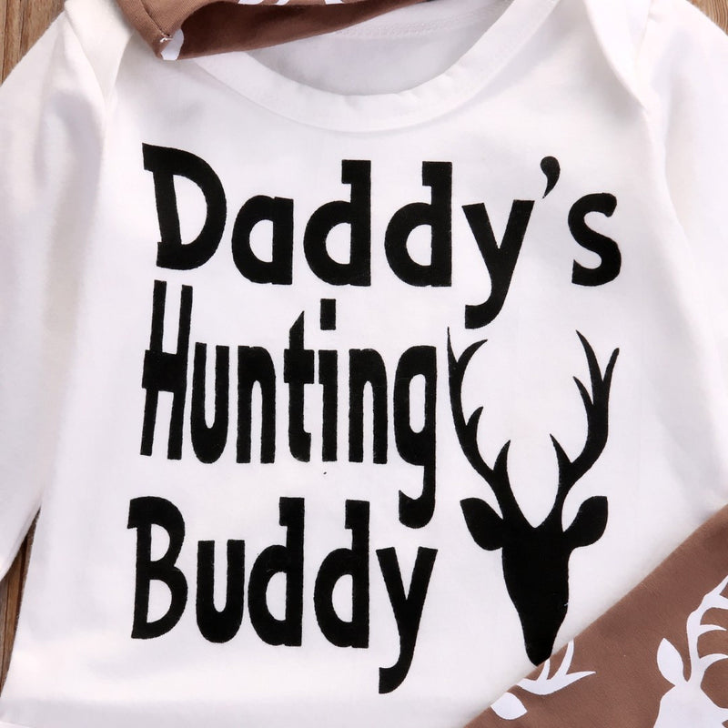 3 Piece 'Daddy's Hunting Buddy' Outfit