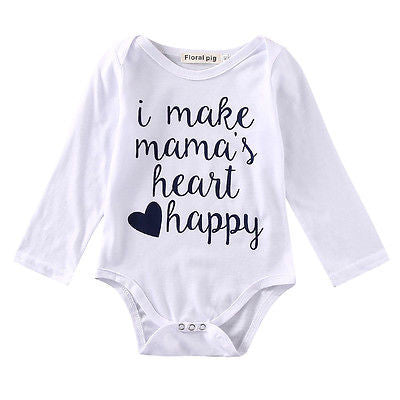 'I Make Mama's Heart Happy' Onesie