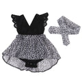 Baby Black Leopard Lace Dress