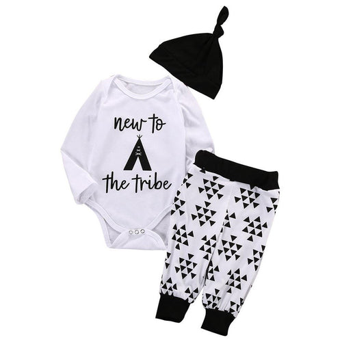 3 Piece 'New to the Tribe' Outfit