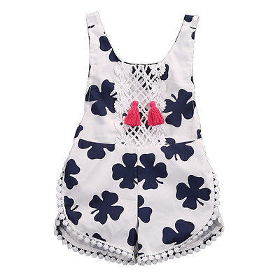 'Lucky Clover' Girls Summer Jumpsuit