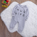 Gray 'Hug Life' Jumpsuit