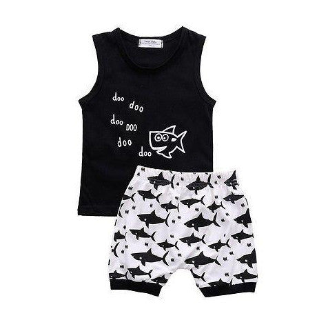 'Little Shark' Summer Outfit
