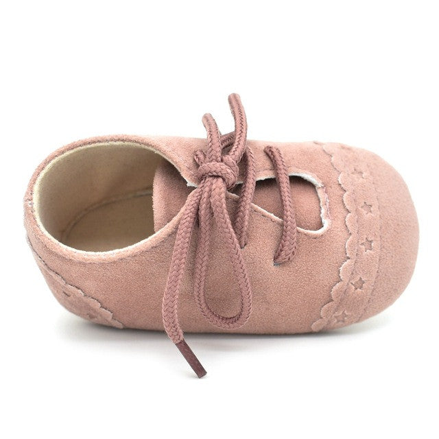 Lace-up Suede Leather Shoes
