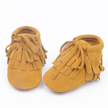 Tassel Lace-up Moccasins