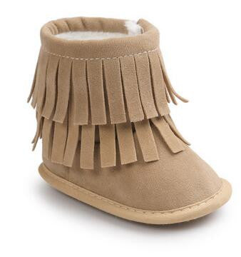 Layered Tassels Baby Boots