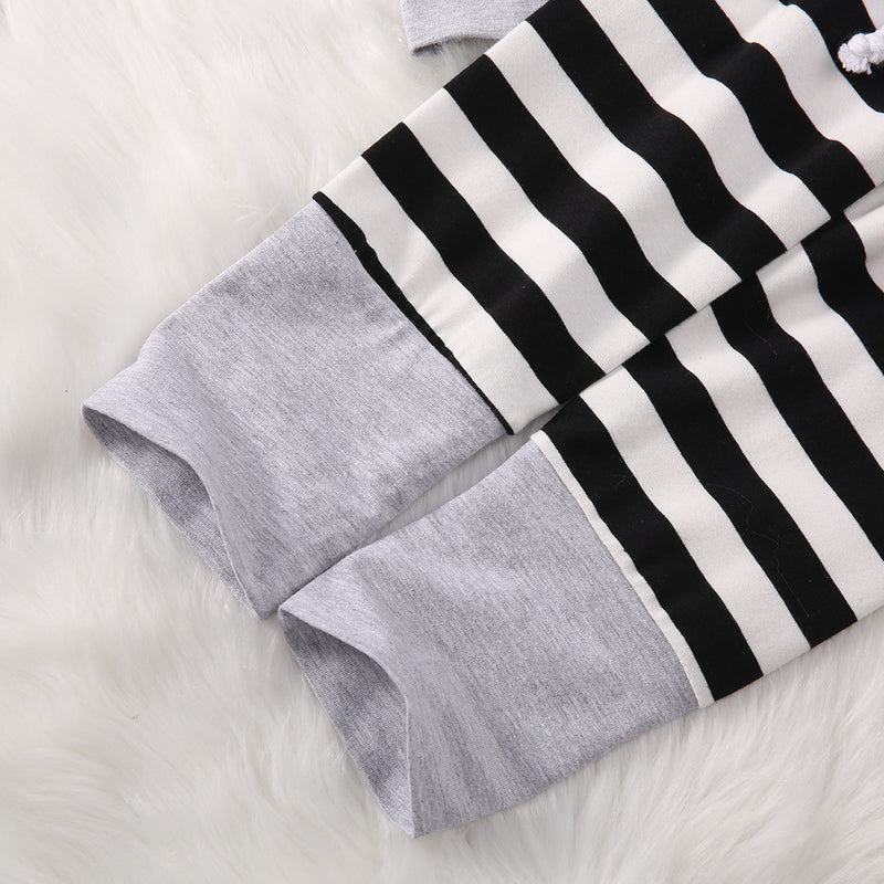 Black & White Striped Hoody Outfit