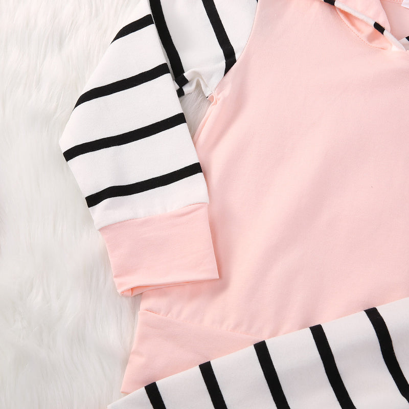 Pink Striped Hoody Outfit