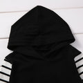 2 piece Black Striped Hoody Outfit