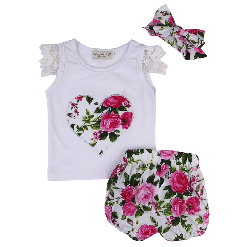 3 Piece 'Summer Flowers' Outfit