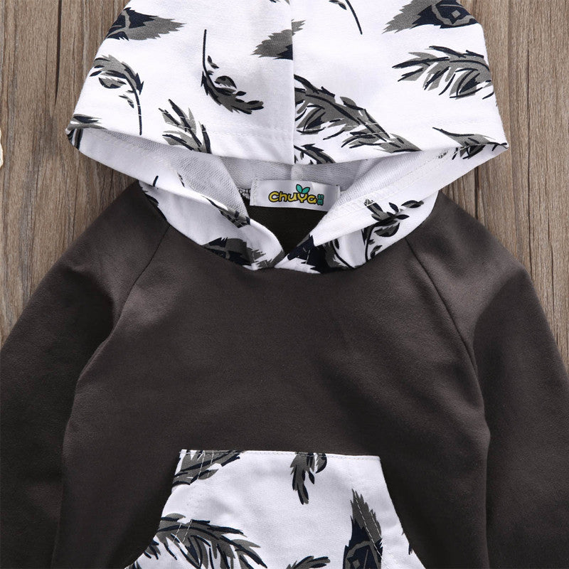 2 Piece 'Feather' Hoody Outfit