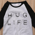 Black & Gray 'Hug Life' Jumpsuit