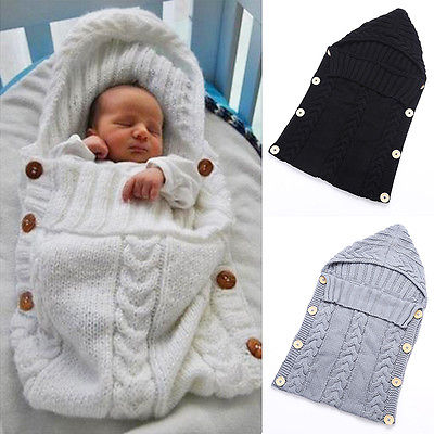 Warm Knitted Swaddle Sleeping Bag