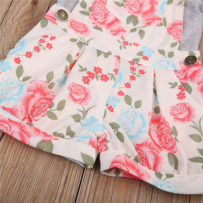 Floral Overall Set