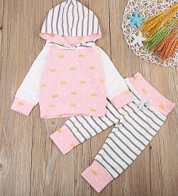 2 piece Pink 'Princess' Hoody Outfit