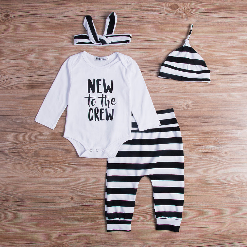 4 piece 'New to the Crew' Outfit