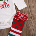 3 piece 'Santa is my Bestie' Outfit with Stockings