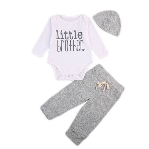 3 piece Gray 'Little Brother' Outfit
