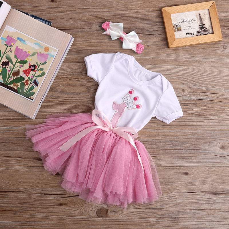 3 piece 'First Birthday' Outfit