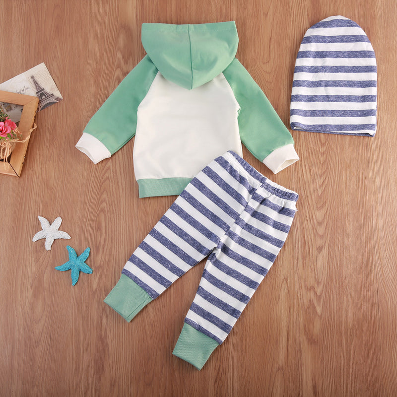 3 piece Hoody Outfit with Beanie